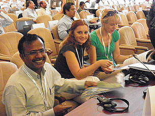 Ramsar Convention delegates receive WWF's Danube album, Bucharest, Romania, 2012. 