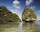 Island nation leaders attending a meeting of the Convention on Biological Diversity announced conservation commitments to protect the future of their islands. Mushroom Islands, Palau.