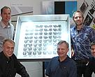 The five winners of the 2008 WWF Carl Mannerfelt Prize. From left (standing): Nils Nilsson & Rikard Eduards; (seated): Torsten Mattsson, Bengt Steneby & Marcus Fransson