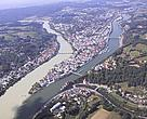 Passau / Germany. Situated at the confluence of the rivers Danube, Inn und Ilz, the &quot;City of Three Rivers&quot; provides a spectacular natural scenery. The perfect closing location of a remarkable musical summer along the Danube. 