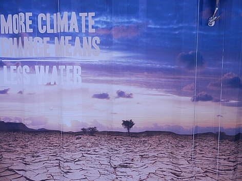 Posters from Durban climate conference.   rel=