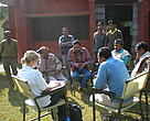 Conducting questionnaires with staff of Dudhwa Tiger Reserve on my field trip