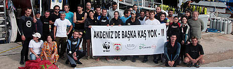Marine survey team in Kas, Turkey. These activities are part of the demonstration project of the ... rel=
