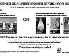 WWF Australia ad: Will Premier Bob Carr stick to yesterday's coal fired technologies or ensure a switch to cleaner technologies?
