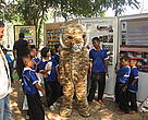 Children participate in a School Wildlife Recovery Network activity.