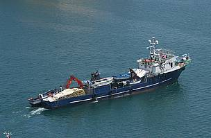 An Italian purse seine vessel fishing Mediterranean bluefin tuna