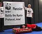 WWF urges Russian President Putin to stop sleeping on the Kyoto Protocol.<BR>
