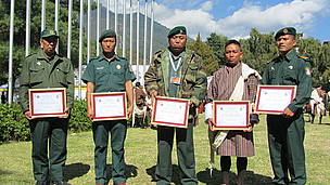 From left: Tarjey, Sonam Wangdi, Gem Tshering, Namgay Dorji, Dorji Duba