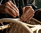 Rattan handicraft in the making. Greater Mekong region