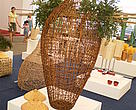 Vase mock-up made of rattan shown at the Life Style Home and Deco in Ho Chi Min City, April 2010.