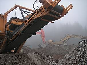 bulldozers in Rila