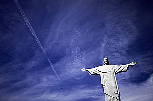 Christ the Redeemer - Iconic statue and landmark of Rio De Jeneiro, Brazil where the Rio +20 Summit is being held.