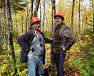 GFTN-Russia Manager Alexander Voropaev and GFTN-North America Programme Officer Jennifer Gerholdt in Domtar's certified forest.