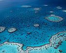 Hardy Reef, aerial view.  Great Barrier Reef & Coral Sea, Australia