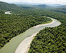 The Sepik River is perhaps the largest unpolluted river in the Asia-Pacific region and home to one of the worlds largest crocodile populations. Niksek tributary, Sepik River Basin, Papua New Guinea.