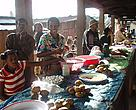Shopping at the market in Vondrozo - fried manioc balls were one of our favourites!