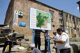 Information sign installation in Koghb