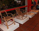 Some of the high-end and clean rattan designs displayed at the launch of sustainable prototypes organized in Phnom Penh in November 2010.