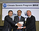 Sony has joined WWF's Climate Savers Programme, announcing that it will cut its absolute CO2 emissions from both operations and its product range by seven per cent by 2010.