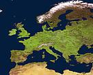 Европа от космоса