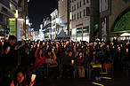 Crowds hold candles during last year's Earth Hour celebrations in Seoul © Earth Hour Korea
