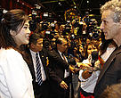Prime Minister Yingluck Shinawatra and Carlos Drews, Director of WWFs Global Species Programme. in critical wildlife trade meeting opening. (Bangkok, Thailand, 3 March 2013)
