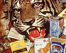 The world's tigers are at a record low, numbering around 5,000. Chinese medicines containing tiger parts.