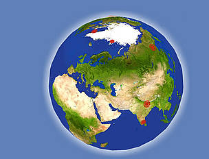 global warming globe earth  / ©: WWF