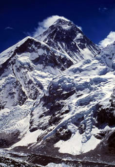 Mount Everest (8848 meters), Nepal. / &copy;: WWF-Canon / NEYRET & BENASTAR