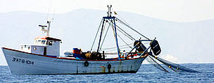 Trawler operating in the eastern Mediterranean Sea.
