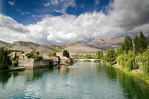 Trebišnjica river in Trebinje, Bosnia & Herzegovina