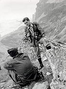 Fritz Vollmar standing on a mountain side. / &copy;: WWF / Fritz Vollmar