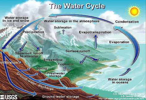 Diagram of the water cycle rel=