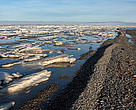 Sea ice in the Beaufort Sea.