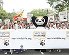 Scene from the People's Climate March in New York City on Sunday, September 21, 2014.