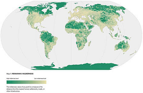 In the 2004 Living Planet Report report: Earth's last remaining wilderness: the wilderness value of ... rel=