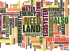 Key terms used in the 2010 Living Planet Report / &copy;: WWF / Wordle