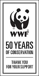 wwf 50th panda logo badge / ©: WWF