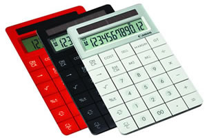 proceeds from sale of environmentally friendly calculators add up