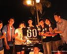 Youths celebrated Earth Hour 2011 with candles lighting along the riverside of Phnom Penh city.