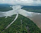 Fotos: Confluencia de los ríos Teles Pires y Juruena, formando el río Tapajós. Mato Grosso, Amazonas, Brasil